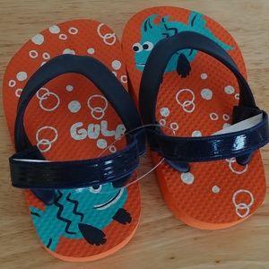 Baby/Toddler 4-5 TCP orange sandals shoes fish